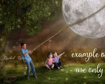 Moonlight backgrounds   digital background   digital backdrop   fairytale   fantasy   moon overlay   Couch moonlight   value pack