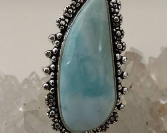 CLEARANCE * Larimar Ring Size 8 1/2