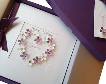 Boxed birthday cards etsy luxury handmade personalised boxed birthday card for mumdaughtersisterfriendnan bookmarktalkfo Gallery