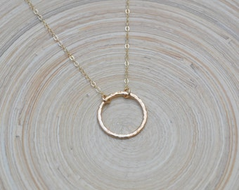 Gold Circle Necklace, Circle Necklace, Karma Necklace, Karma Circle Necklace, Gold Open Circle Necklace, Gold Ring, Gold Eternity Necklace