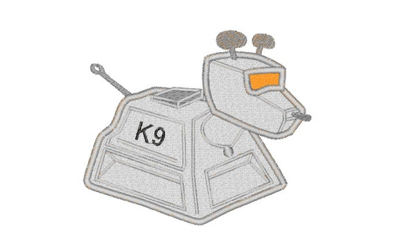 Buy3get1 Free Machine Embroidery Doctor Who K9 Applique