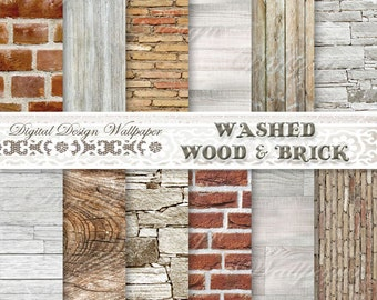 COMMERCIAL USE,Digital Paper Wood,Wood Digital Paper,Brick Paper,Washed White Wood,Washed Wood,Rustic Wood,Stone,Brick Papers,Wood Texture