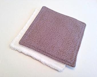 Purple Face Cloths / Purple Dish Rags / 6 inch Dish Rags / Small Washcloths / Purple Bathroom