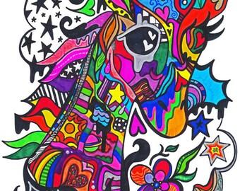 GaudyGiraffe - Psychedelic Fairies Print