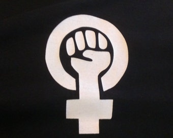 Long Sleeve Feminist Symbol Screen Print T-shirt in Mens or Womens Sizes S-3XL