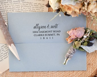Address Stamp with Wood Handle - Customized Stamp - Return Address Stamp - Wedding Gift - Housewarming Gift