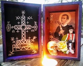 Gede Loa Altar Box, Shrine, Shadow Box, Niche, Hoodoo, Voodoo, Pagan
