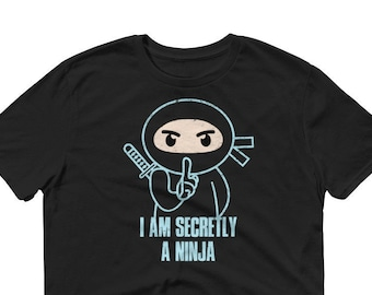 Ninja T-Shirt, Funny Ninja, Cool Ninja, Karate Sleeve T-Shirt