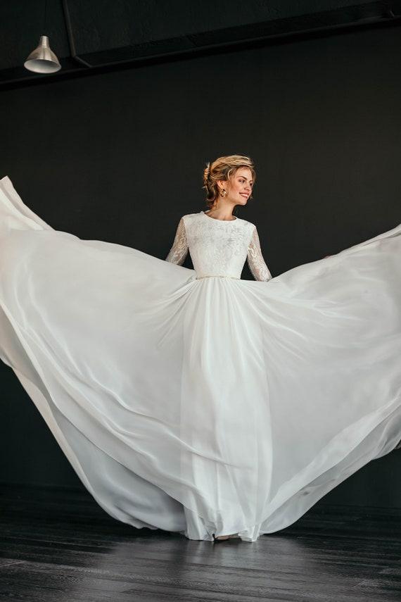 Romantisches Brautkleid Moana floral