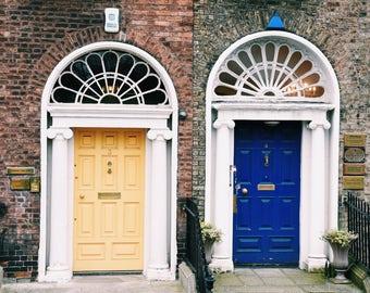 Dublin Doors Ireland travel photography- fine art color photography print; 5x5 & Doors of dublin   Etsy
