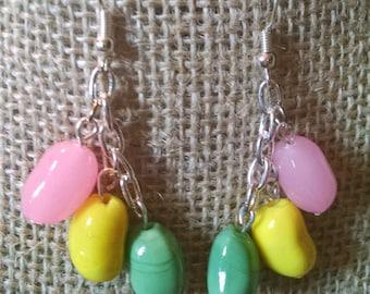 Jelly Bean Dangle Earrings