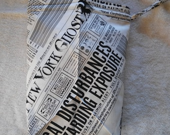 Knitting Project Bag - Harry Potter/Fantastic Beasts - New York Ghost Newspaper