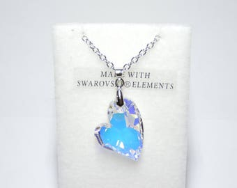 Crystal Heart Necklace. SWAROVSKI ELEMENTS.