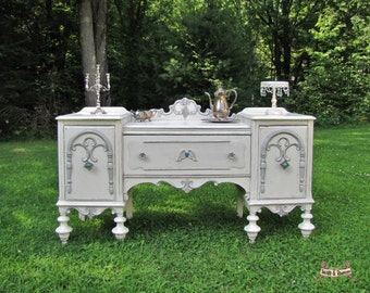 CUSTOM   Shabby Chic Buffet/ Sideboard, Entryway Piece, Cottage Chic,  Painted,