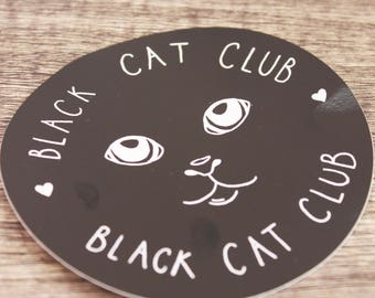 Black Cat Club / VINYL ART STICKER