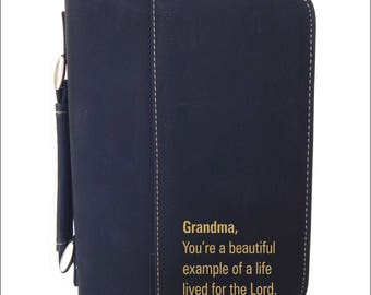 Christian Gift for Grandma - Gifts for Grandmother - Bible Cover - Mothers Day Gift - Birthday Gift from Granddaughter - Grandson, BCL033