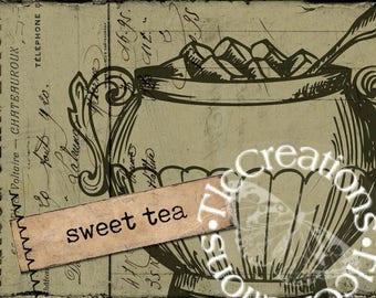 Just the Basics, Tea Time Vintage Style Printable Journal Cards, Junk Journal