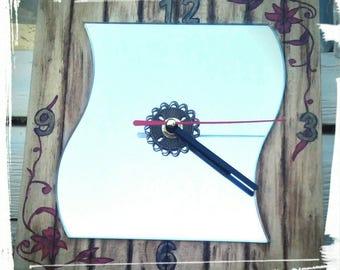 Clock wall mirror