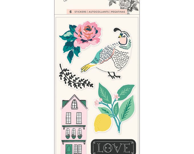 Flourish by maggie holmes puffy stickers