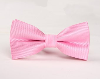 Pink Bowtie .Mens Bow Tie.Bowtie for Party.Bowtie for wedding.Silk Bowtie.