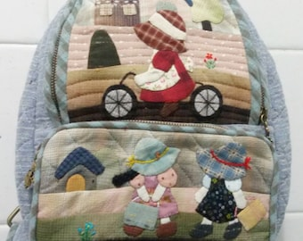 Backpack is Handmade with Japanese Fabric.