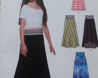 Tweens Easy Sew Skirt Pattern Girls Size 8 to 16 All in One Pattern Newlook 6338 Simplicity Stretch Knits Only