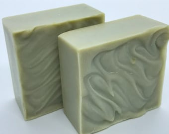 "FRENCH GREEN CLAY ""Sea Mud"" Facial Bar with Coconut Milk"