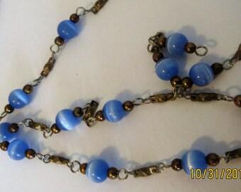 Nunn design beaded chain, blue beaded chain