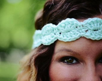 Crochet Scallop Headband