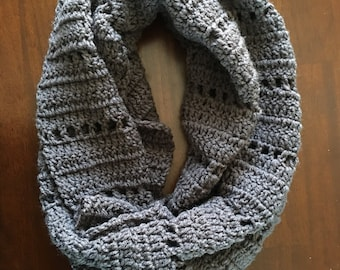 Crocheted Textured Infinity Scarf