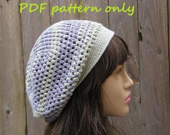 Slouchy  Spring Hat, Crochet Pattern PDF,  Pattern No. 44