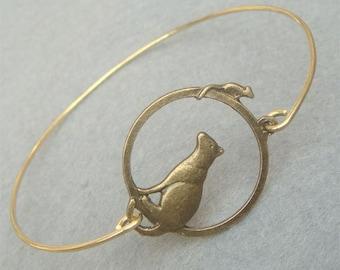 Mouse and Cat Bangle Bracelet