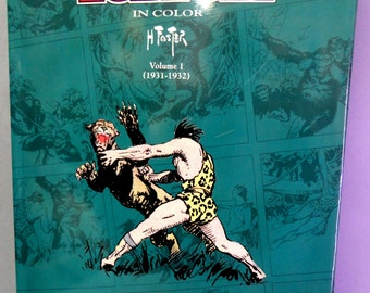 TARZAN of the Apes by HAL FOSTER Vol 1 1931-1932 Edgar Rice Burroughs Color Newspaper comic strips Reprints