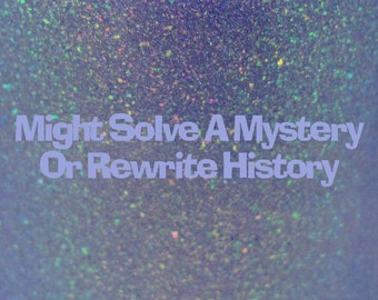 """Might Solve A Mystery Or Rewrite History shimmer holographic nail polish 15 mL (.5 oz) from the """"Disney Afternoon"""" Collection"""