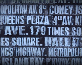 Tim Holtz Fabric, Subway Signs Fabric, 18 x 44 Inches, Holtz Subway Signs, Black and White, Scrapbook Fabric, Eclectic Elements, Cotton