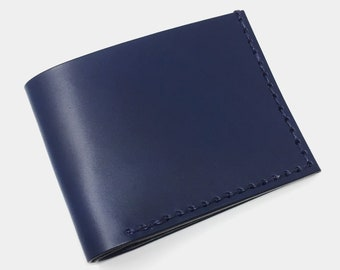 Leather Wallet, Men's Leather Wallet, Men's Wallet, Wallet, Thin Leather Wallet, Slim Leather Wallet, Blue Leather Wallet