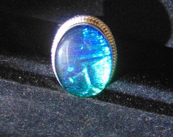 Beautiful Blue Vintage Triple Opal set in Sterling