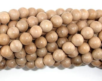 Silkwood Beads, 8mm(8.3mm) Round Beads, 35 Inch, Full strand, Approx 108 Beads, Mala Beads (011739001)