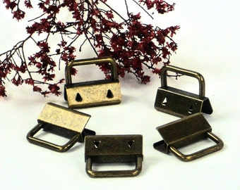 5 pcs KeyRing Hardware, 1 Inch Antique Brass, 25mm KeyFob Hardware Supplies @ MeiMei Supplies  Ships from USA