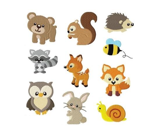 Embroidery Design Set Woodland Animals 4x4 Digital