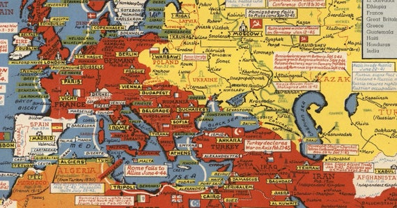 World war ii dated events pictorial map wwii map world map world war ii dated events pictorial map wwii map world map military map pictorial war map map wall decor antique war map amc009 gumiabroncs Gallery