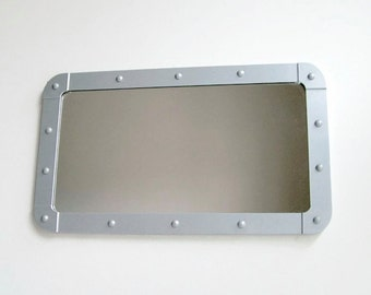 Industrial Porthole Mirror, Metal Mirror, Aluminium Mirror, Bathroom Mirror, Wall Mirror, Handmade Mirror, Reclaimed, Decorative Wall Mirror