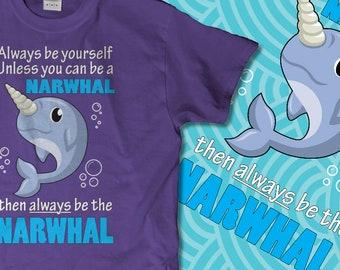 Always Be A Narwhal Cute Kids Tee