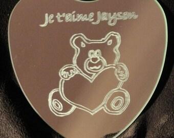 Heart Teddy bear mirror