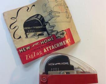 Vintage New Home sewing machine Zig Zag attachment