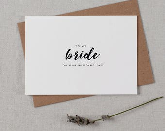 To My Bride On Our Wedding Day, Wedding Card to Bride, I Can't Wait To Marry You, Wedding Day Card, Wedding Cards, Future Wife Card, K8