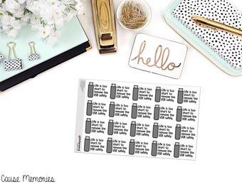 "MCM MANTRAS: ""Life is too short..."" Paper Planner Stickers"