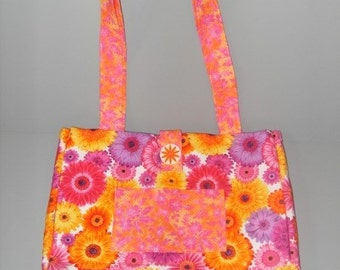 Floral quilted purse