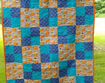 Mr. Fox  baby or toddler quilt