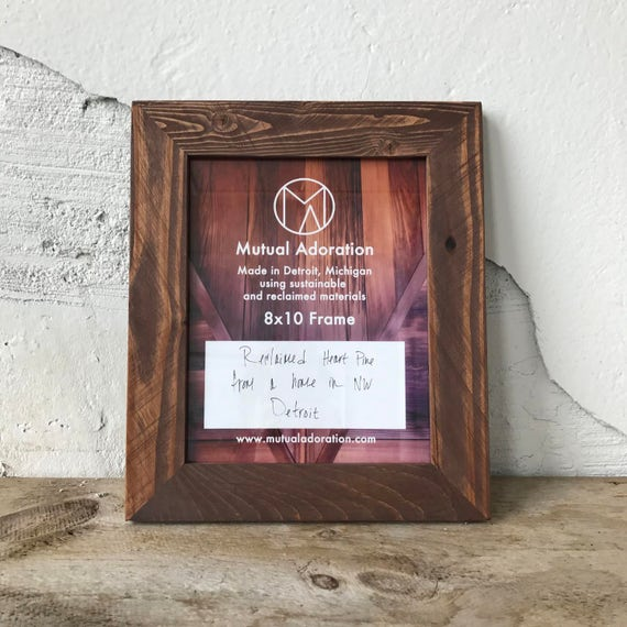 8x10 Picture Frame   Reclaimed Wood Frame   8x10 Photo Frame ...